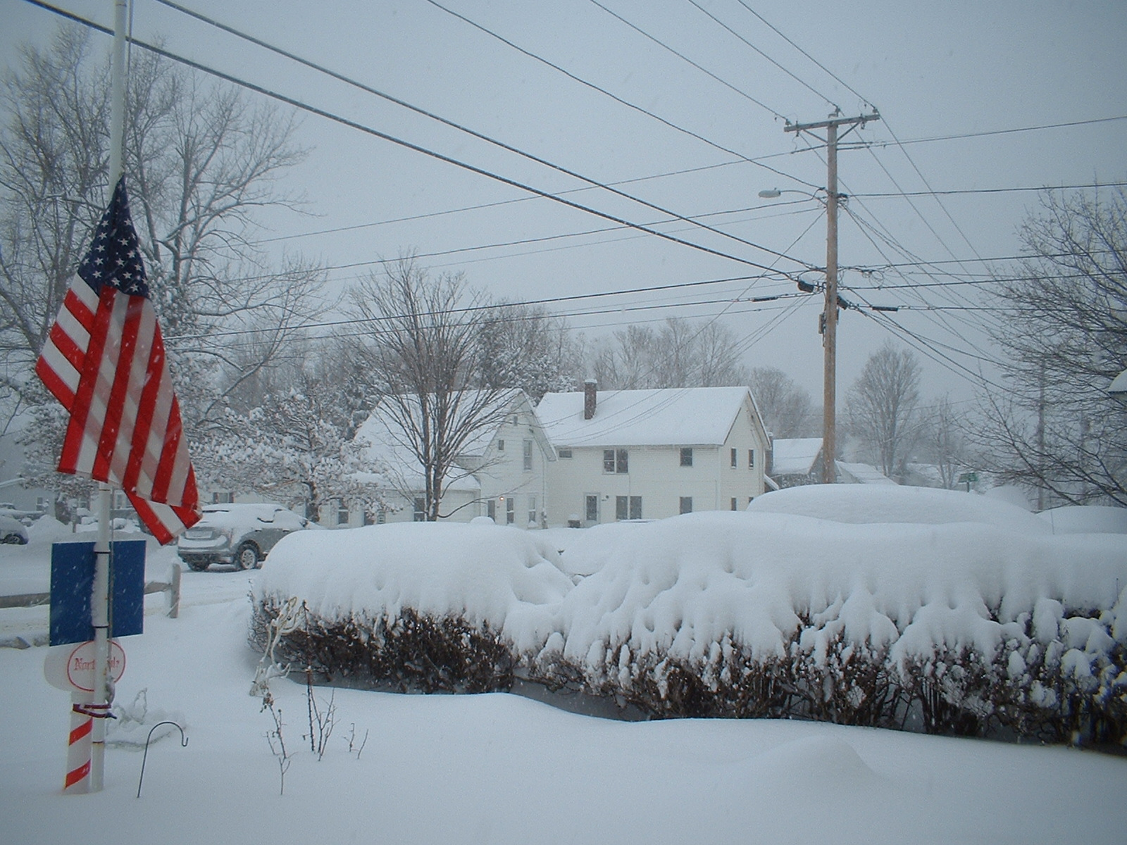 it is winter in Southern Vermont